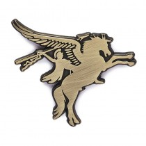 PEGASUS ANTIQUE BRASS MILITARY CLUTCH METAL PIN